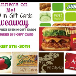 Dinners On Me Giveaway