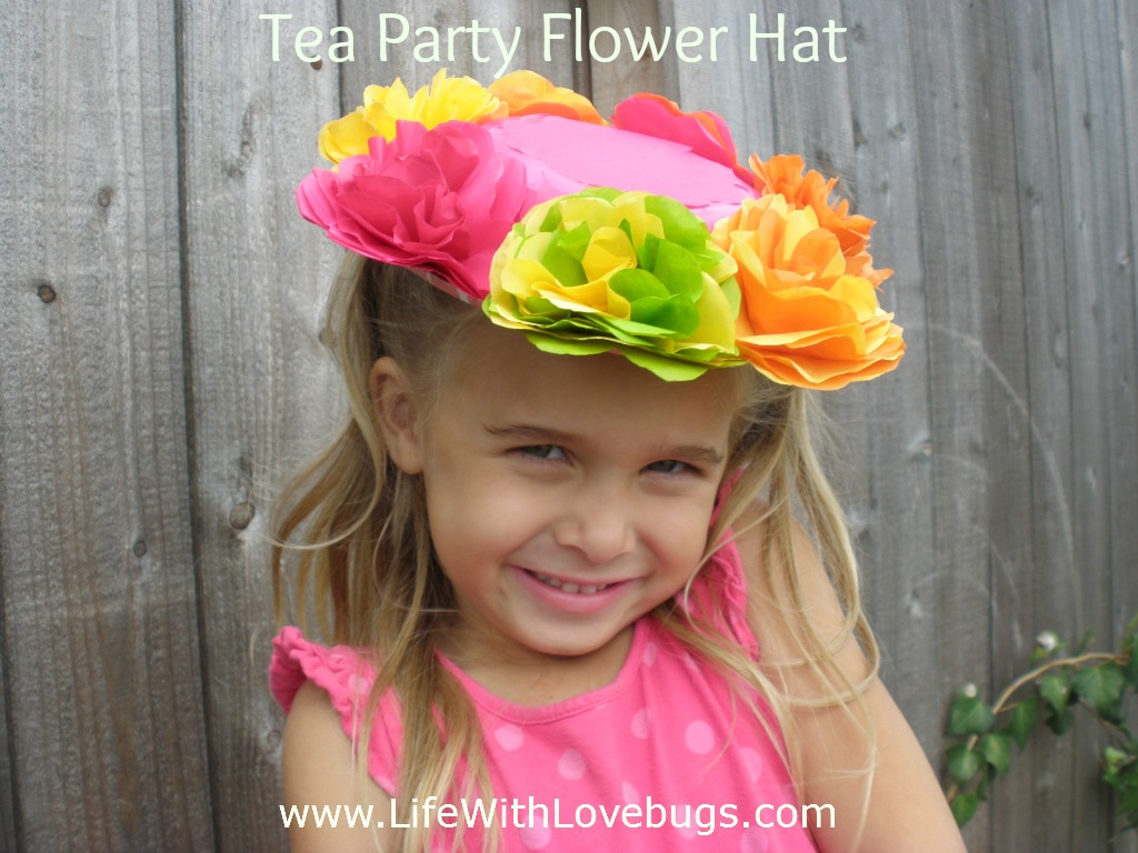 Tissue Paper Flower Hat