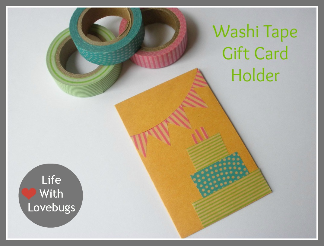 Washi Tape Gift Card Holder