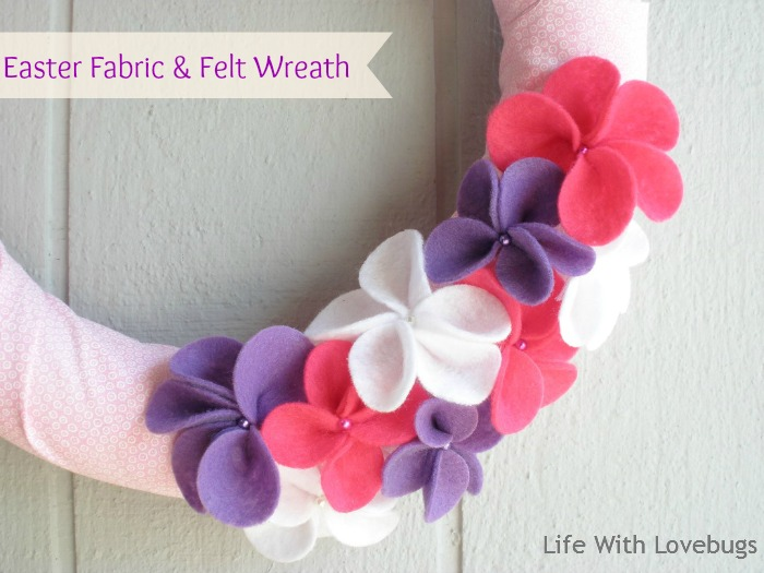 Easter Fabric & Felt Wreath