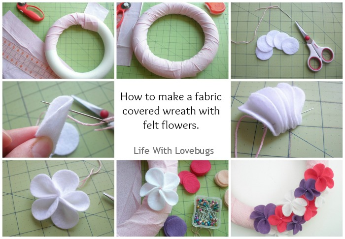 How to Make a Fabric & Felt Wreath