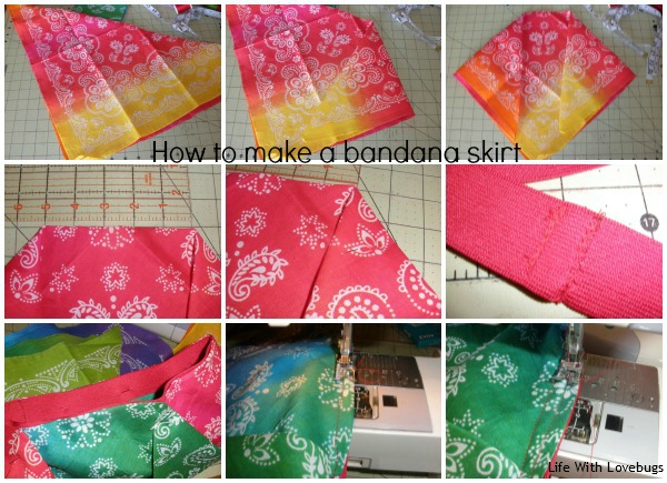 How To Make A Bandana Skirt Steps