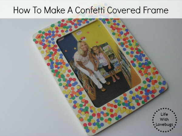 How To Make A Confetti Covered Frame
