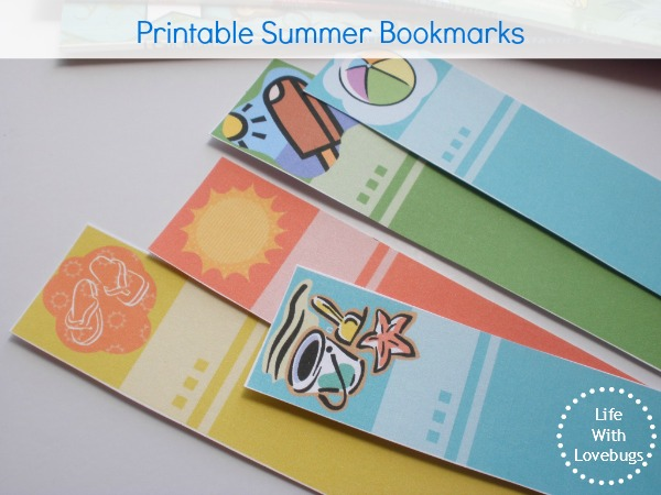 Printable Summer Bookmarks