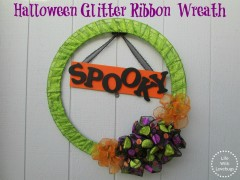 Halloween Glitter Ribbon Wreath