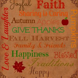 Thanksgiving Words Printable