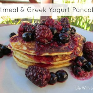 Oatmeal and Greek Yogurt Pancakes