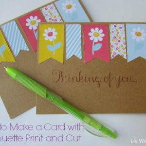 How to Make a Card using Silhouette Print and Cut paper