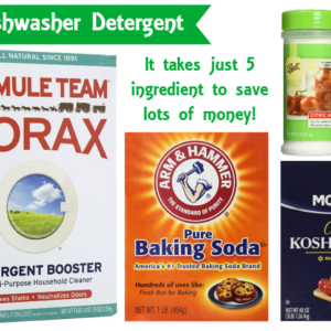 DIY Automatic Dishwasher Detergent