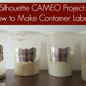 Silhouette CAMEO Project: How to Make Container Labels