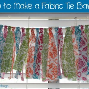 How to Make a Fabric Tie Banner