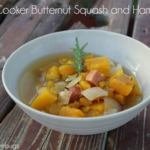 Slow Cooker Butternut Squash and Ham Soup #SlowCookerMeals