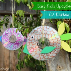 Easy Kid's Upcycle Project - CD Rainbow Maker