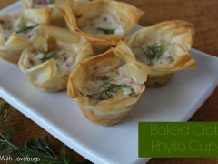 Baked Crab Phyllo Cups