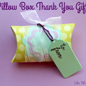 Pillow Box Thank You Gifts