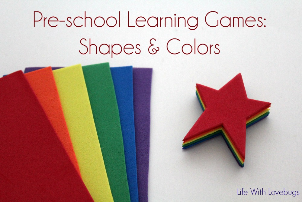 Pre-School Learning Games: Shapes & Colors
