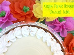 Crepe Paper Flower Dessert Table