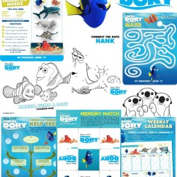 Disney•Pixar Finding Dory FREE Printable Activity Pages