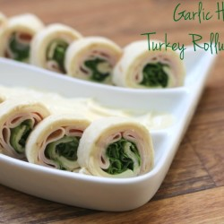 Garlic Herb Turkey Rollup Bites