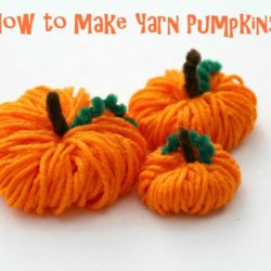 How to Make Yarn Pumpkins