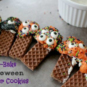 No-Bake Halloween Monster Cookies