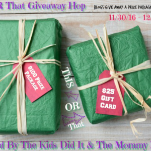 This or That Gift Card Holiday Giveaway