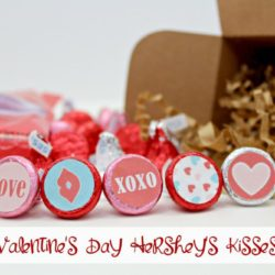 Easy Valentines Day Craft: Hershey's Kiss Stickers