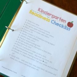 Getting Ready for Kindergarten - Printable Checklist