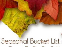 Seasonal Bucket List: Things To Do For Fall