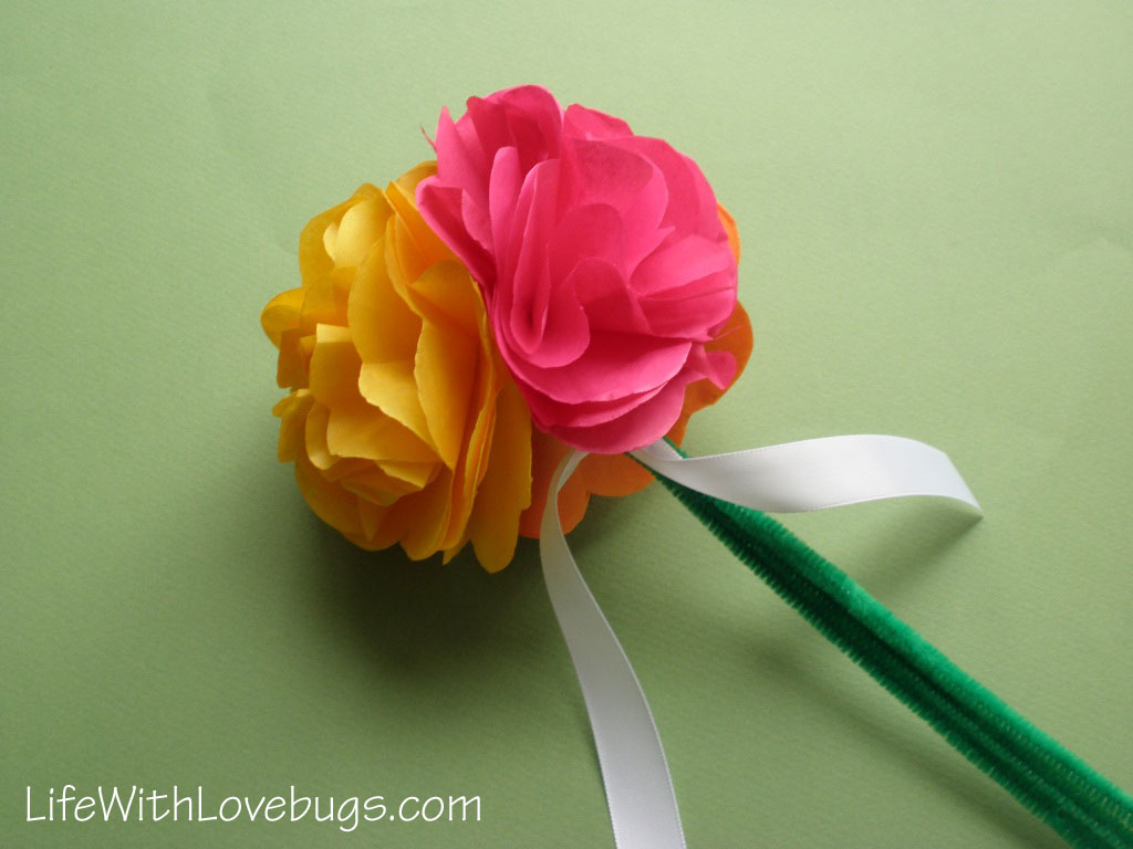 Tissue Paper Flowers - Life With Lovebugs