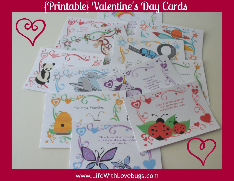 {Printable} Valentine's Day Cards for Kids