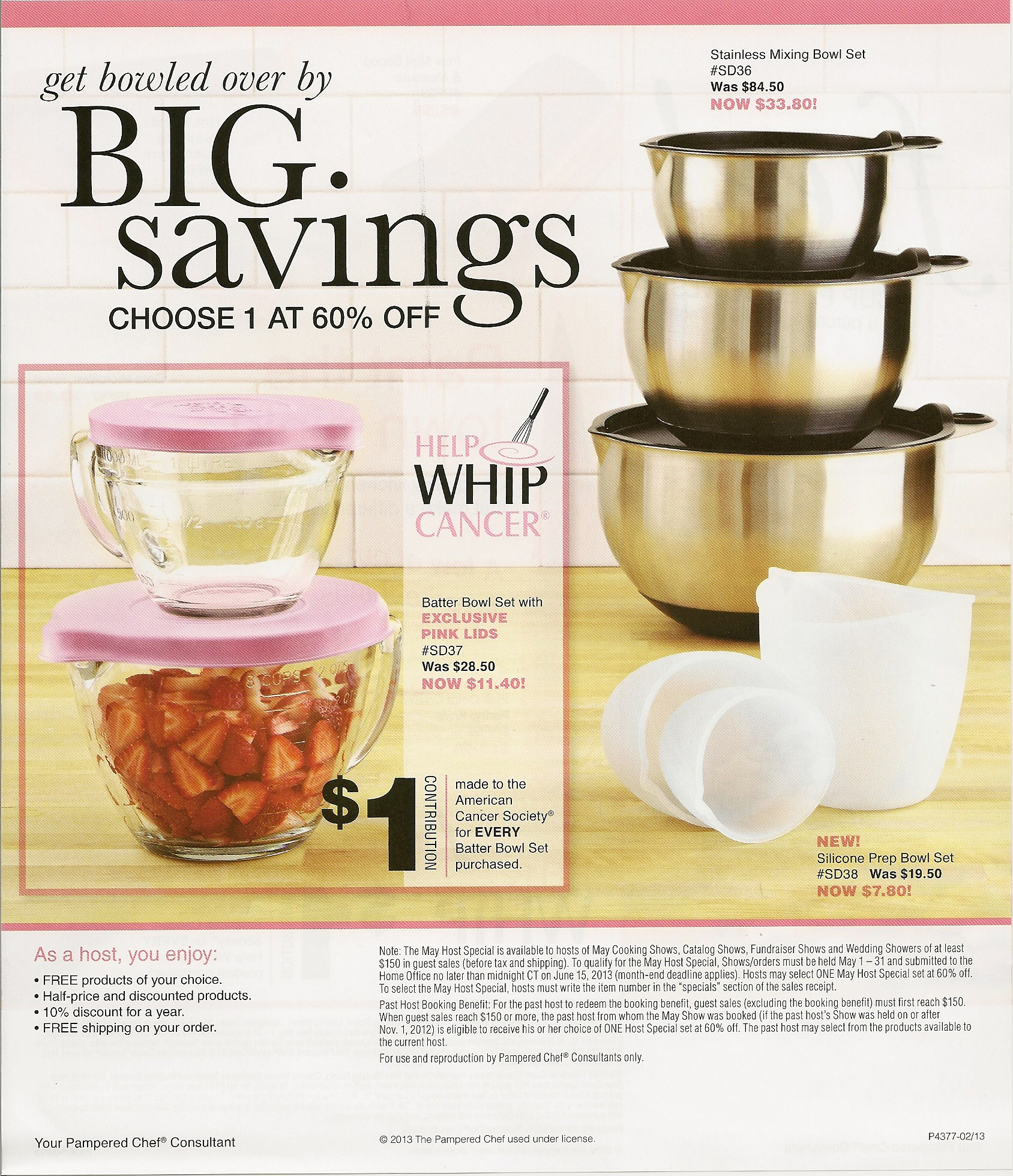 Pampered Chef Host Specials 2014