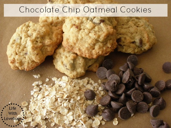Oatmeal Chocolate Chip Cookies - Life With Lovebugs