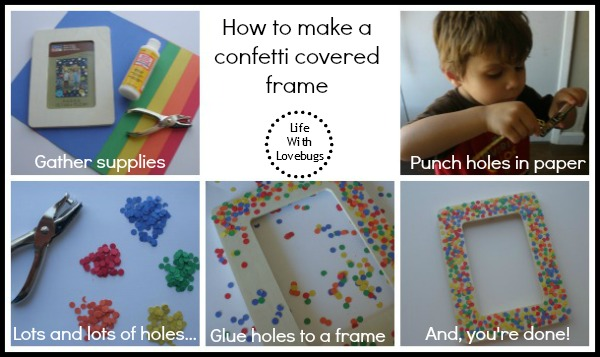 How To Make A Confetti Covered Frame - Life With Lovebugs