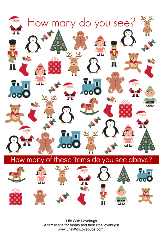 Christmas Activity Printable - Christmas Picture Search