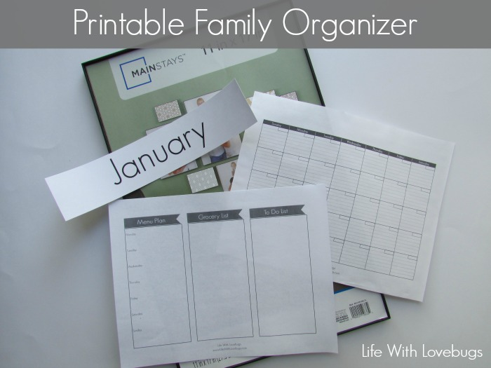 DIY Wipe Off Board & Printable Family Organizer - Life With Lovebugs