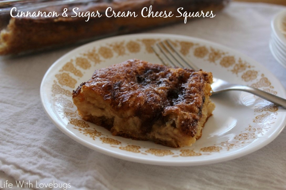 Cinnamon & Sugar Cream Cheese Squares - Life With Lovebugs