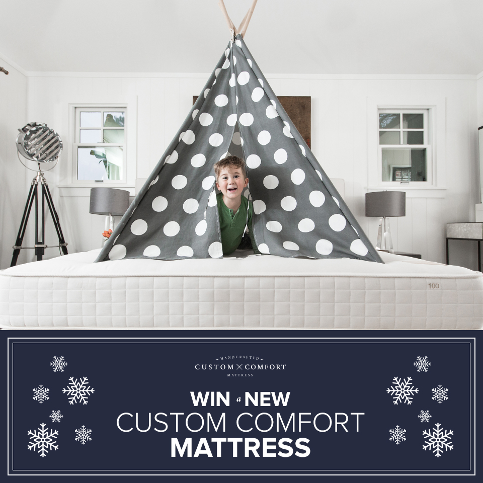 Custom fort Mattress Holiday Giveaway Life With Lovebugs